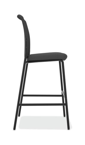 HON Instigate Cafe-Height Stool | Armless | Black ; UPC: 782986472315 ; Image 3
