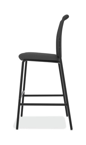 HON Instigate Cafe-Height Stool | Armless | Black ; UPC: 782986472315 ; Image 4