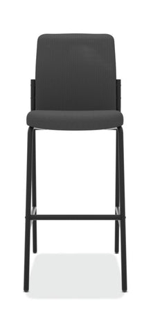 HON Instigate Cafe-Height Stool | Armless | Black ; UPC: 782986472315 ; Image 2