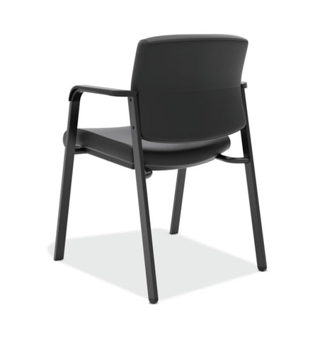 HON Validate Stacking Guest Chair | Black SofThread Leather ; UPC: 888531559804 ; Image 6