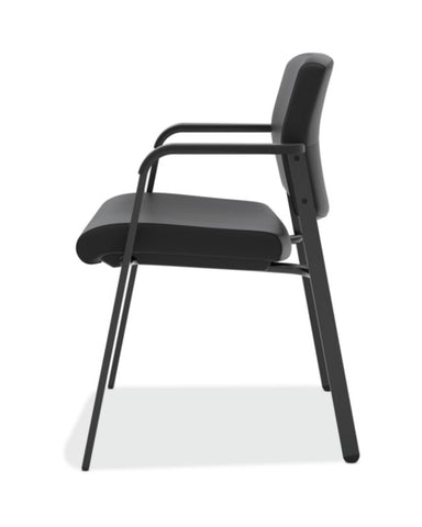 HON Validate Stacking Guest Chair | Black SofThread Leather ; UPC: 888531559804 ; Image 4