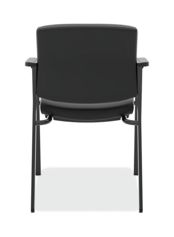 HON Validate Stacking Guest Chair | Black SofThread Leather ; UPC: 888531559804 ; Image 5