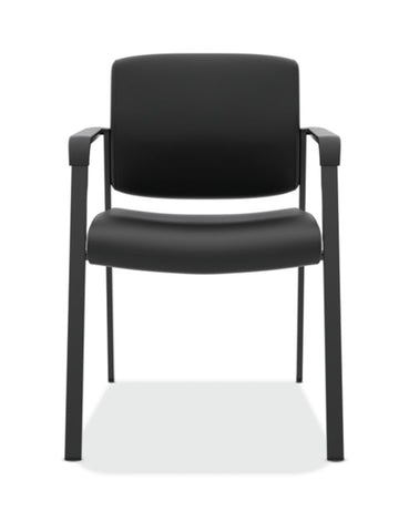 HON Validate Stacking Guest Chair | Black SofThread Leather ; UPC: 888531559804 ; Image 2