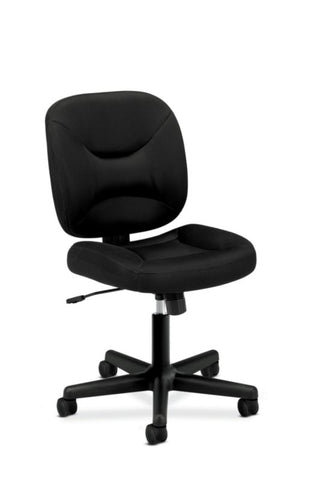 HON ValuTask Low-Back Task Chair | Center-Tilt, Tension, Lock | Black Sandwich Mesh ; Image 1