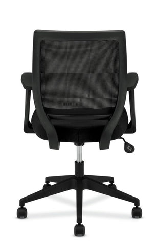 HON Mesh Mid-Back Task Chair | Center-Tilt, Tension, Lock | Fixed Arms | Black Fabric ; Image 6
