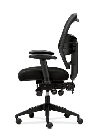 HON Prominent Mesh High-Back Task Chair | Asynchronous Control, Seat Glide | 2-Way Arms | Black Mesh ; UPC: 888852261912 ; Image 5
