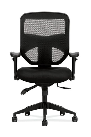HON Prominent Mesh High-Back Task Chair | Asynchronous Control, Seat Glide | 2-Way Arms | Black Mesh ; UPC: 888852261912 ; Image 3