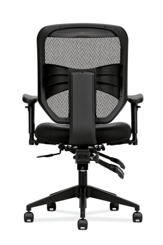 HON Prominent Mesh High-Back Task Chair | Asynchronous Control, Seat Glide | 2-Way Arms | Black Mesh ; UPC: 888852261912 ; Image 6