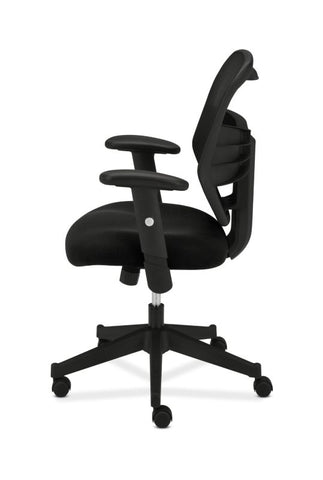 HON Prominent Mesh High-Back Task Chair | Center-Tilt, Tension, Lock | Adjustable Arms | Black Sandwich Mesh Seat ; UPC: 888206187455 ; Image 5