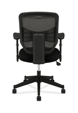 HON Prominent Mesh High-Back Task Chair | Center-Tilt, Tension, Lock | Adjustable Arms | Black Sandwich Mesh Seat ; UPC: 888206187455 ; Image 6