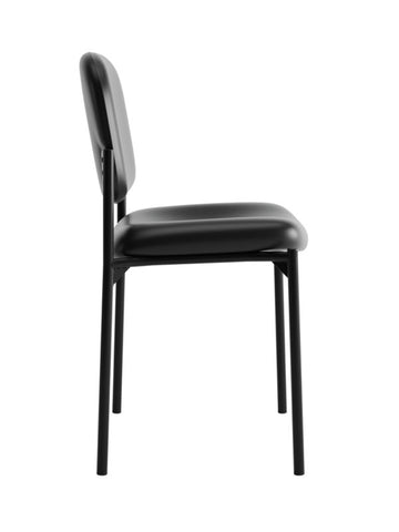 HON Scatter Stacking Guest Chair | Black SofThread Leather ; UPC: 020459576444 ; Image 3