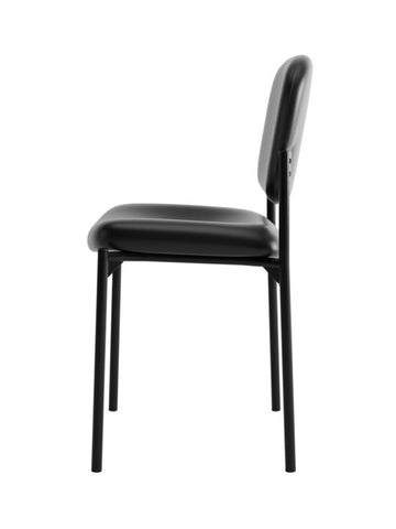 HON Scatter Stacking Guest Chair | Black SofThread Leather ; UPC: 020459576444 ; Image 4