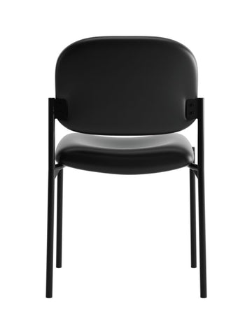 HON Scatter Stacking Guest Chair | Black SofThread Leather ; UPC: 020459576444 ; Image 5