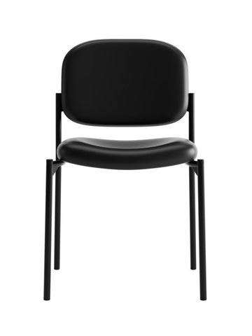 HON Scatter Stacking Guest Chair | Black SofThread Leather ; UPC: 020459576444 ; Image 2