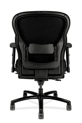 HON Wave Mesh Big and Tall Executive Chair | Knee-Tilt, Tension, Lock | Adjustable Arms | Black Mesh Back | Black Fabric Seat ; UPC: 089191318453 ; Image 5