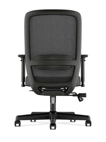 HON Exposure Mesh High-Back Task Chair | Synchro-Tilt, Lumbar, Seat Glide | 2-Way Arms | Black Fabric ; UPC: 089192828968 ; Image 6