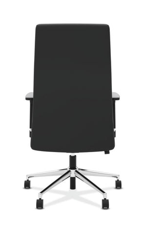 HON Define High-Back Executive Chair | Synchro-Tilt, Tension, Lock | Adjustable Arms | Black SofThread Leather ; UPC: 631530600356 ; Image 5