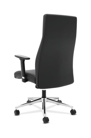 HON Define High-Back Executive Chair | Synchro-Tilt, Tension, Lock | Adjustable Arms | Black SofThread Leather ; UPC: 631530600356 ; Image 6