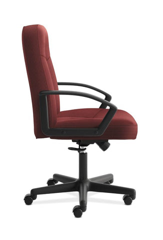 HON High-Back Executive Chair | Center-Tilt, Tension, Lock | Fixed Arms | Burgundy Fabric ; UPC: 782986172826 ; Image 3