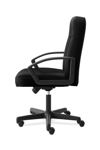 HON High-Back Executive Chair | Center-Tilt, Tension, Lock | Fixed Arms | Black Fabric ; UPC: 782986184232 ; Image 4