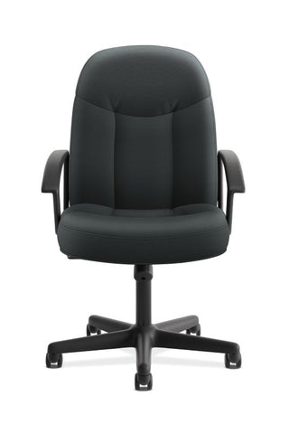 HON High-Back Executive Chair | Center-Tilt, Tension, Lock | Fixed Arms | Charcoal Fabric ; UPC: 782986172819 ; Image 2