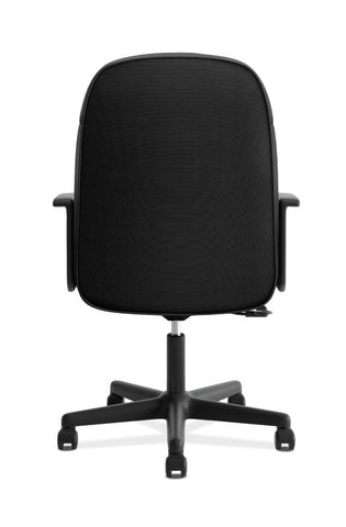 HON High-Back Executive Chair | Center-Tilt, Tension, Lock | Fixed Arms | Black Fabric ; UPC: 782986184232 ; Image 5