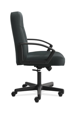 HON High-Back Executive Chair | Center-Tilt, Tension, Lock | Fixed Arms | Charcoal Fabric ; UPC: 782986172819 ; Image 3