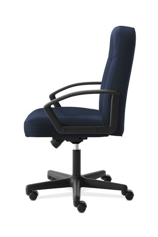 HON High-Back Executive Chair | Center-Tilt, Tension, Lock | Fixed Arms | Navy Fabric ; UPC: 645162580238 ; Image 4