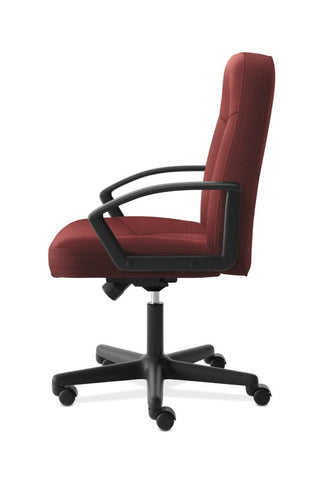 HON High-Back Executive Chair | Center-Tilt, Tension, Lock | Fixed Arms | Burgundy Fabric ; UPC: 782986172826 ; Image 4