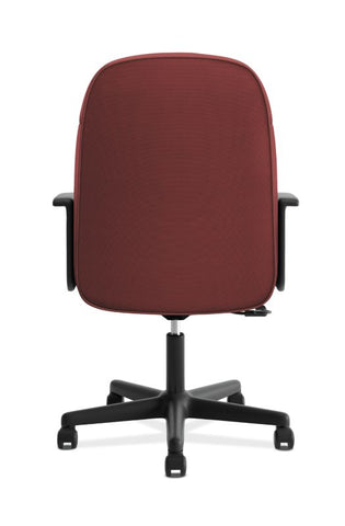 HON High-Back Executive Chair | Center-Tilt, Tension, Lock | Fixed Arms | Burgundy Fabric ; UPC: 782986172826 ; Image 6