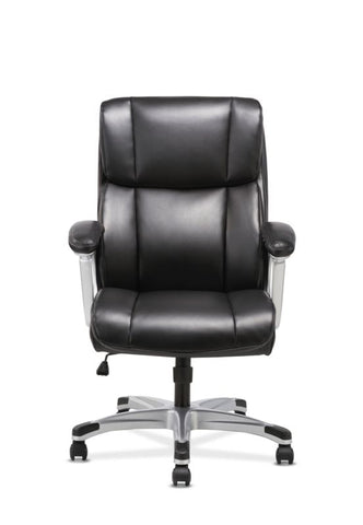 Sadie Executive Chair | Fixed Arms | Black Leather ; UPC: 191734204267 ; Image 3