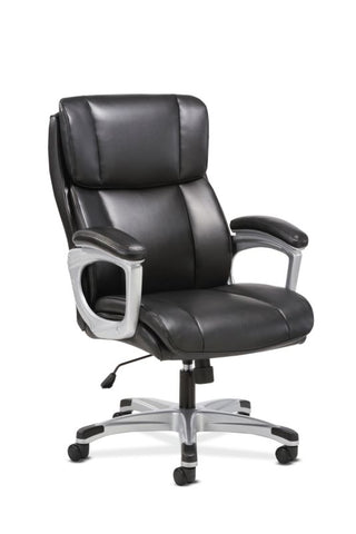 Sadie Executive Chair | Fixed Arms | Black Leather ; UPC: 191734204267 ; Image 1
