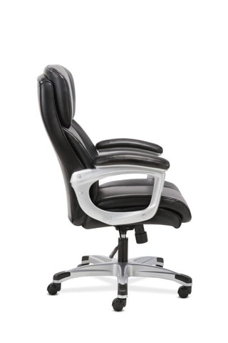 Sadie Executive Chair | Fixed Arms | Black Leather ; UPC: 191734204267 ; Image 4