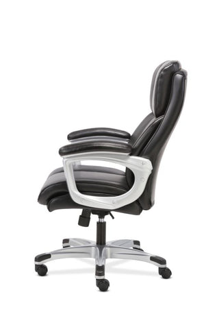 Sadie Executive Chair | Fixed Arms | Black Leather ; UPC: 191734204267 ; Image 5