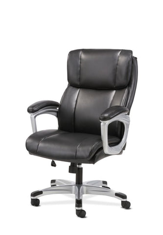 Sadie Executive Chair | Fixed Arms | Black Leather ; UPC: 191734204267 ; Image 2