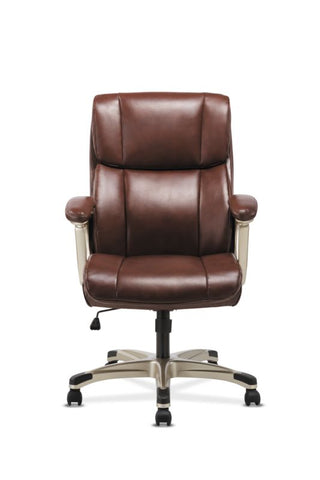 Sadie Executive Chair | Fixed Arms | Brown Leather ; Image 3
