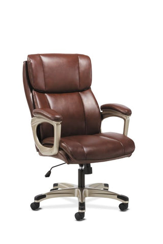 Sadie Executive Chair | Fixed Arms | Brown Leather ; Image 1