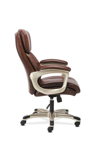 Sadie Executive Chair | Fixed Arms | Brown Leather ; Image 4