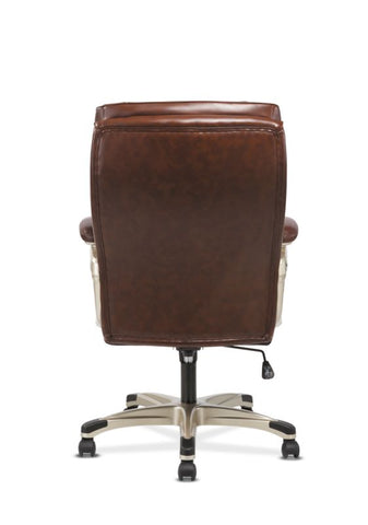 Sadie Executive Chair | Fixed Arms | Brown Leather ; Image 6