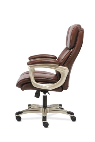 Sadie Executive Chair | Fixed Arms | Brown Leather ; Image 5