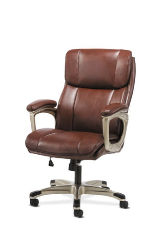 Sadie Executive Chair | Fixed Arms | Brown Leather ; Image 2