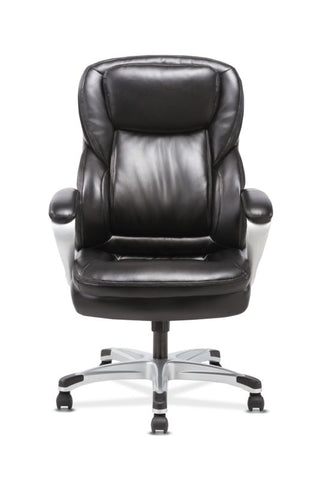 HON Executive Chair | Fixed Arms | Black Leather ; UPC: 191734204281 ; Image 3
