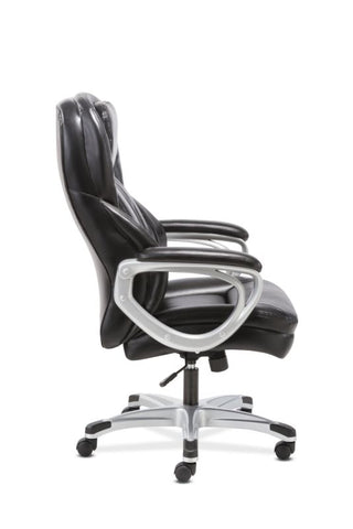 HON Executive Chair | Fixed Arms | Black Leather ; UPC: 191734204281 ; Image 4