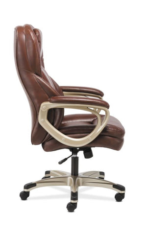 HON Executive Chair | Fixed Arms | Brown Leather ; Image 3