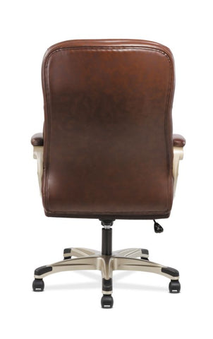 HON Executive Chair | Fixed Arms | Brown Leather ; Image 6