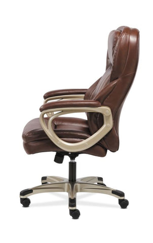 HON Executive Chair | Fixed Arms | Brown Leather ; Image 4