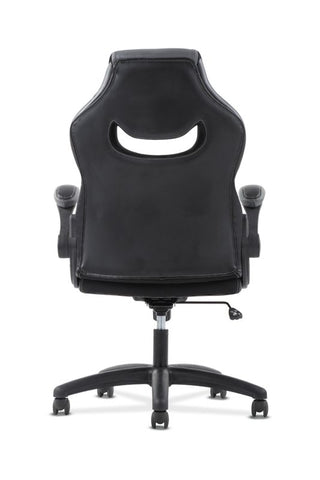 HON Racing Style Gaming Chair | Flip-Up Arms | Black and Gray Leather ; UPC: 089192133628 ; Image 6