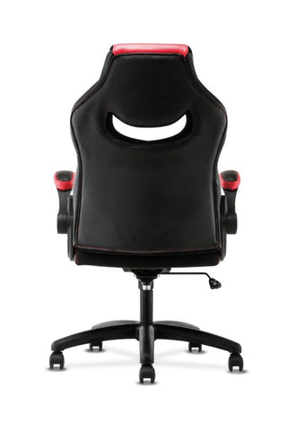 HON Racing Style Gaming Chair | Flip-Up Arms | Black and Red Leather ; UPC: 191734204380 ; Image 6