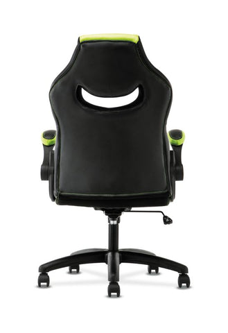 HON Racing Style Gaming Chair | Flip-Up Arms | Black and Green Leather ; UPC: 089192682515 ; Image 6