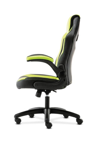 HON Racing Style Gaming Chair | Flip-Up Arms | Black and Green Leather ; UPC: 089192682515 ; Image 5